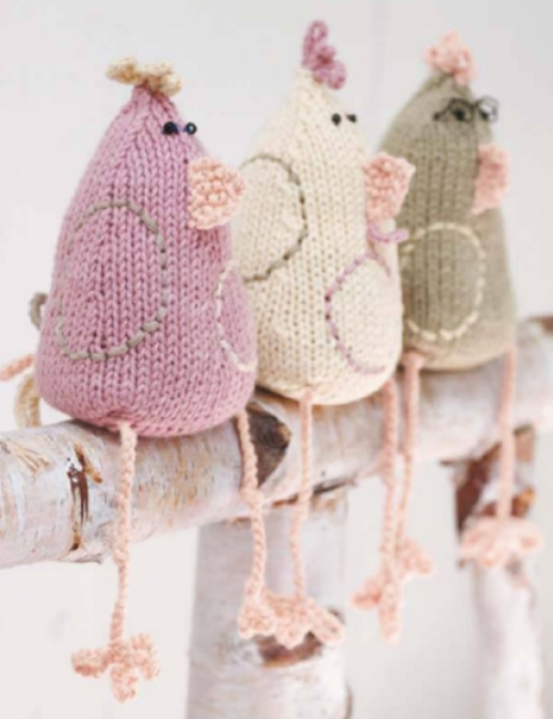 Knitted Chicken - Free Pattern