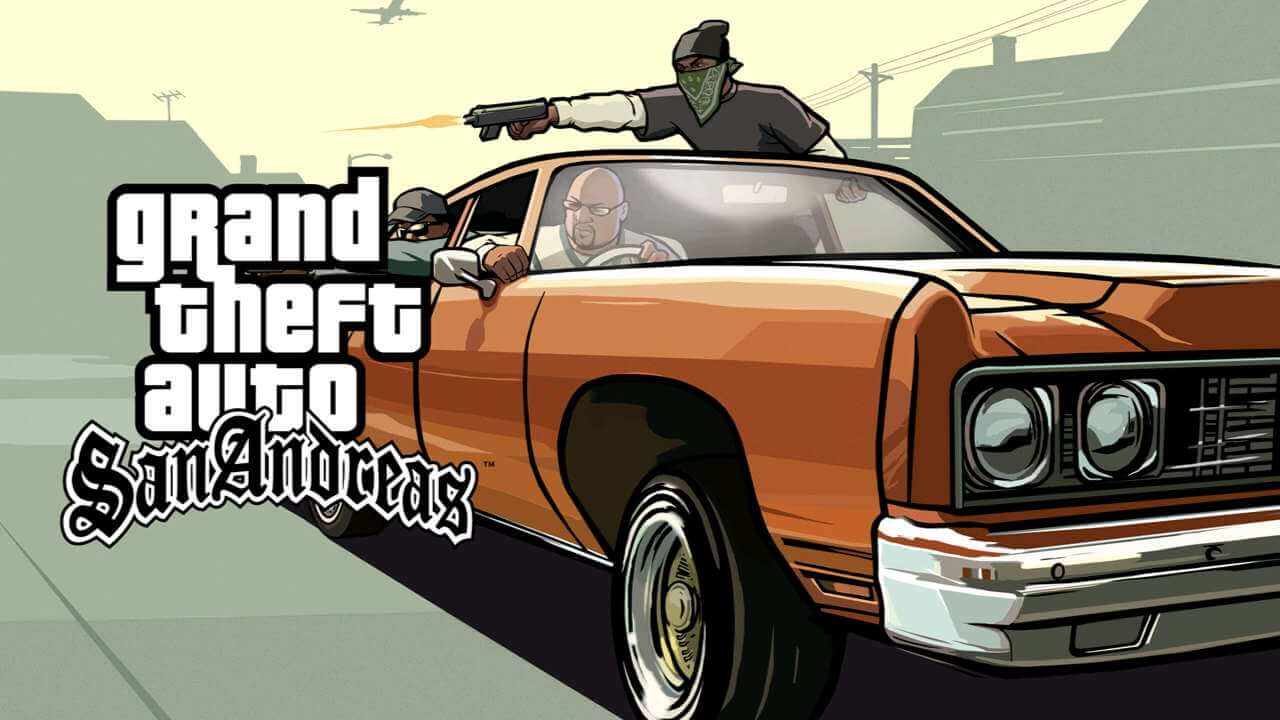 gta sa loading screen orange car