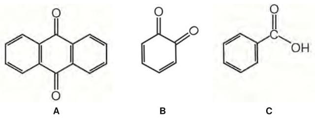 As moléculas a seguir são consideradas quinonas