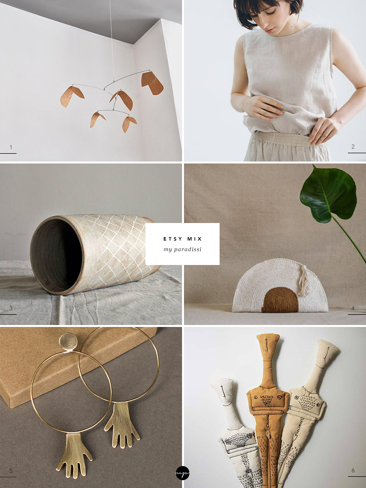 Favorite handmade products from Etsy stores curated by Eleni Psyllaki My Paradissi