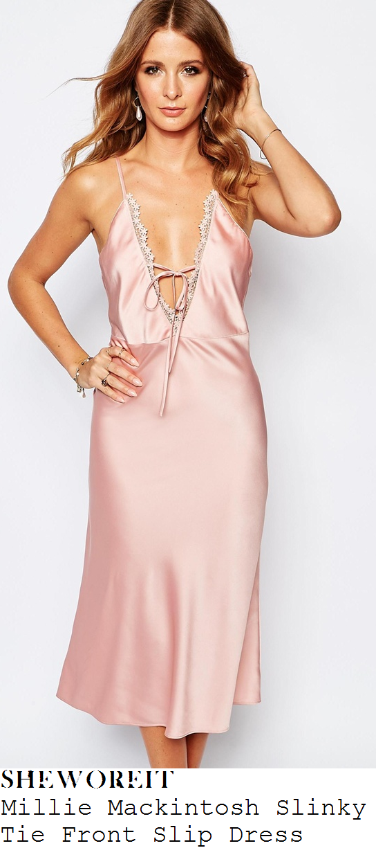 millie-mackintosh-millie-mackintosh-pink-silky-plunge-front-lace-trim-tie-detail-slip-dress