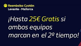 william hill Reembolso Cuotón Levante vs Mallorca 22-11-2019