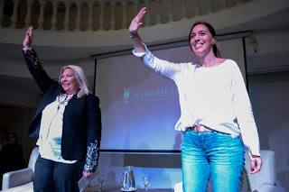 En una charla junto a la diputada nacional Elisa Carrió, la mandataria anunció la medida
