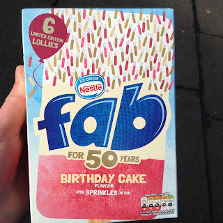 Nestle Fab Birthday Cake Flavour Ice Cream