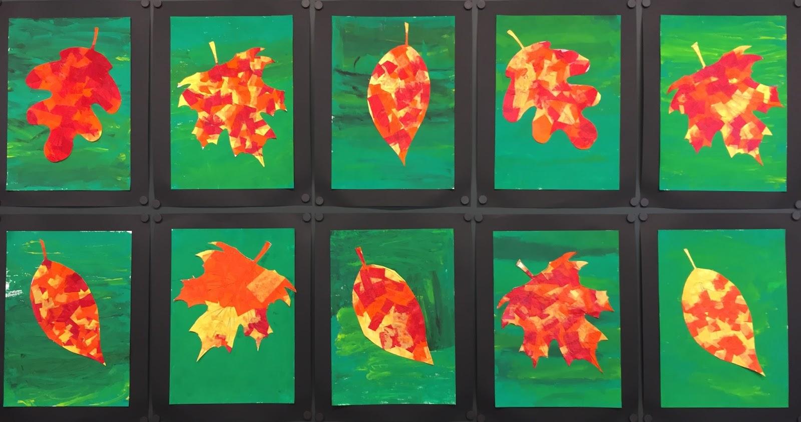 Herbstbild Blätterpracht Klassenkunst