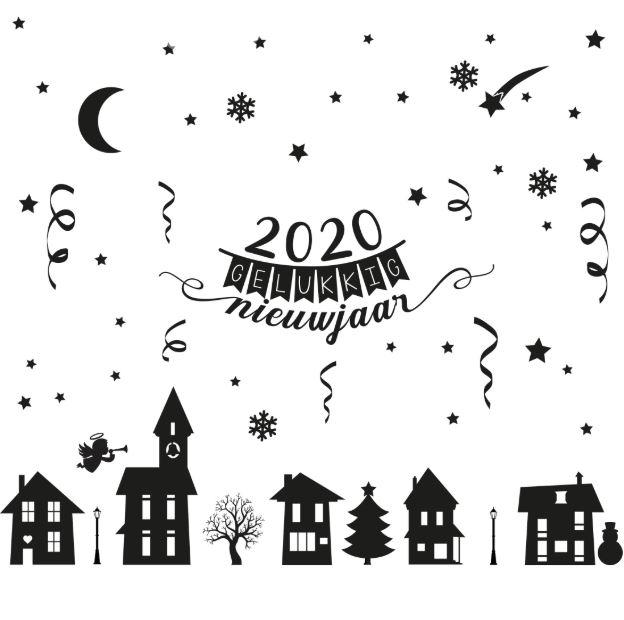 2020 gelukkig nieuwjaar met kerst