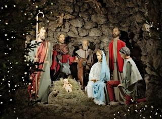 Oração pedindo à Jesus paz para o Natal e Ano Novo - Imagem de presépio natalino representando o nascimento de Jesus em Belém. Imagem gratuita de domínio público do site pxhere.