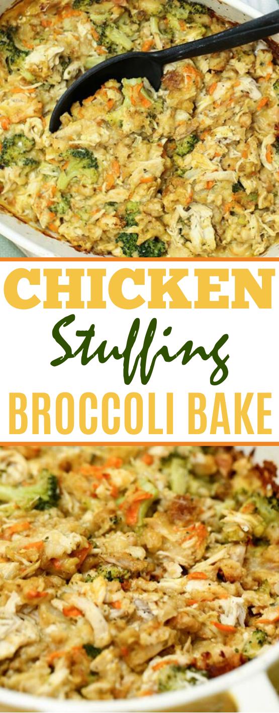 Chicken Stuffing Bake #dinner #recipes #baked #casserole #chicken