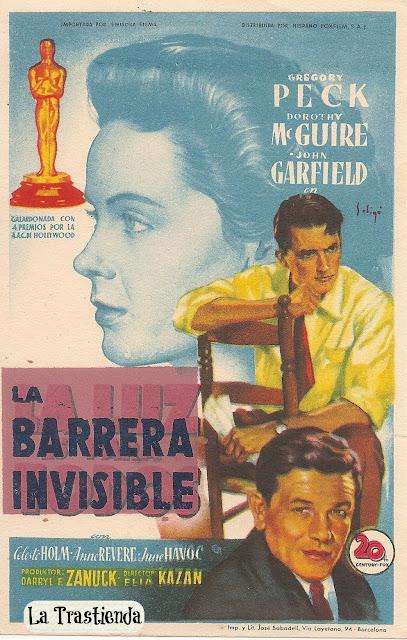 Programa de Cine - La Barrera Invisible - Gregory Peck - Dorothy McGuire