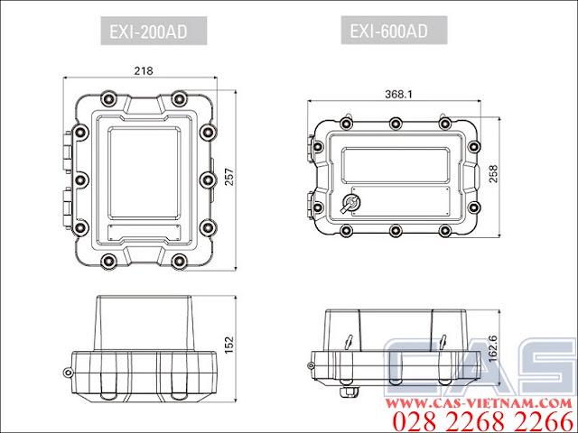 EXI-600AD-dimensions