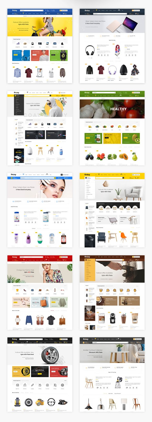 Best Wordpress Multipurpose WooCommerce Theme Download and Review - firezy