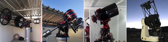Affiliate remote telescopes AFIL-3 and AFIL-5 located in Hakos, Namibia and AFIL-6 and AFIL-7 located in Nerpio, Spain.