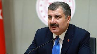 وزير الصحة التركي يعلن عن إرتفاع بأعداد الوفيات والإصابات بكورونا