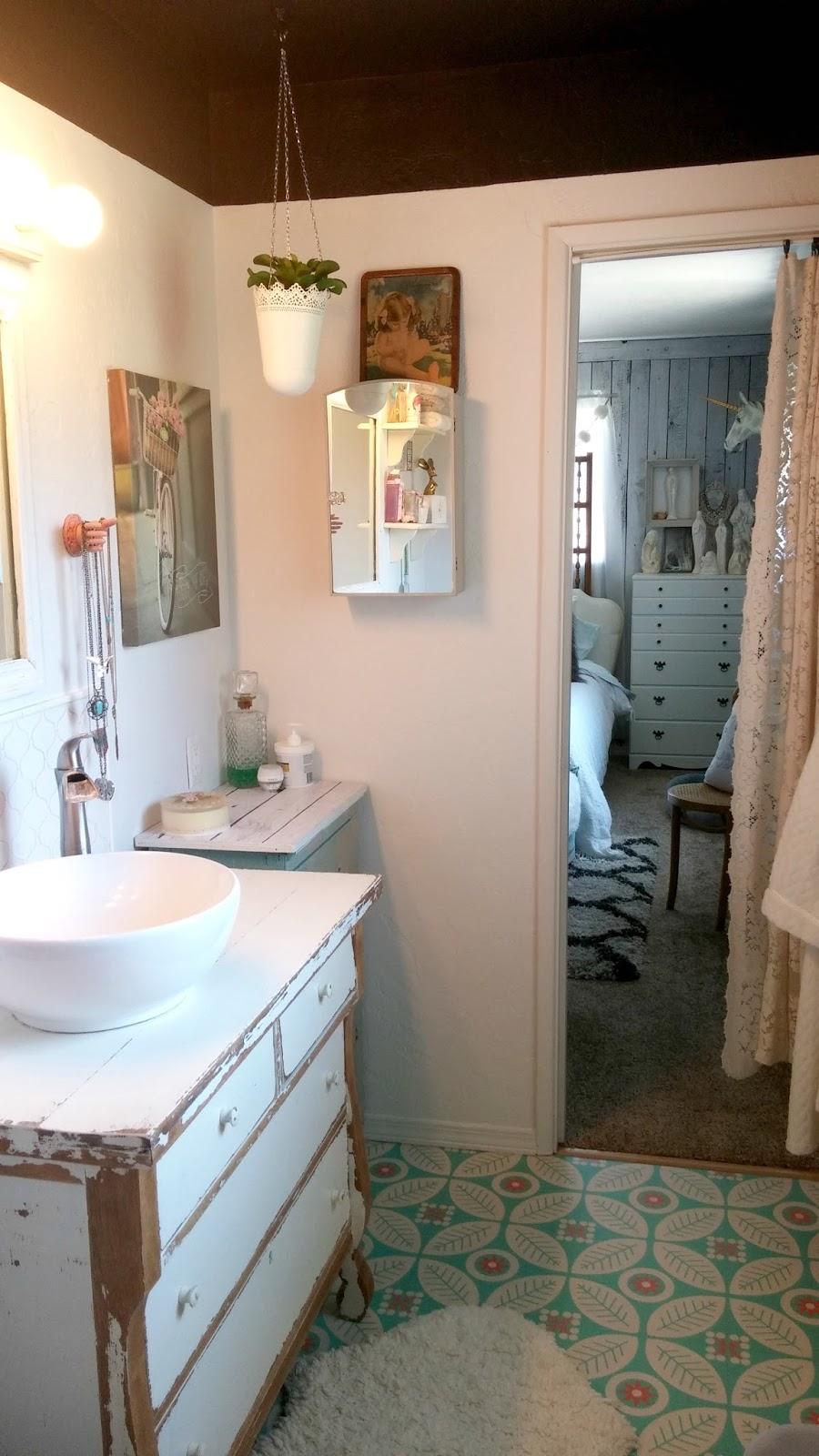 Half Bath Makeover Reveal Little Vintage Cottage