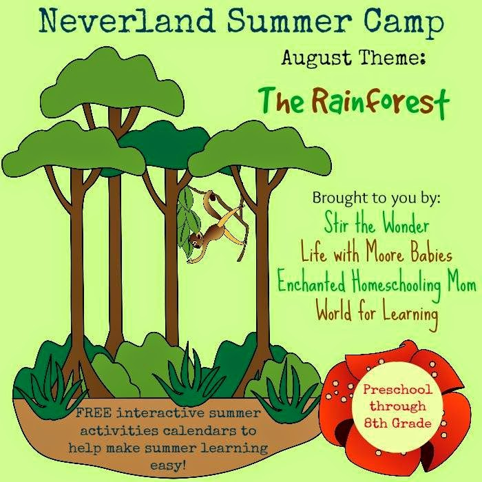 Neverland Summer Camp ~ Rainforest for K-2 ~ August 2014