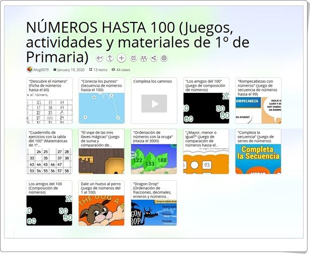 13 juegos, actividades y materiales para el aprendizaje de los NÚMEROS HASTA 100 en 1º de Primaria