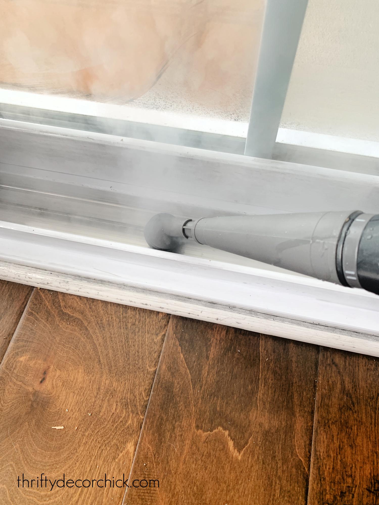 steamer to clean door and window tracks