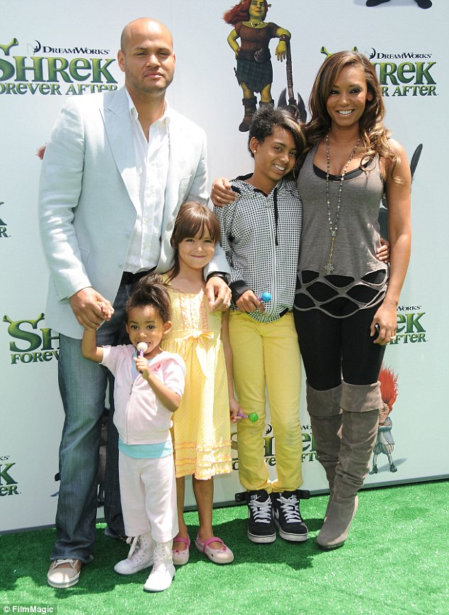 Mel B and husband Stephen Belafonte with kids
