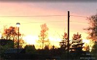 Solnedgang, mai 2021.