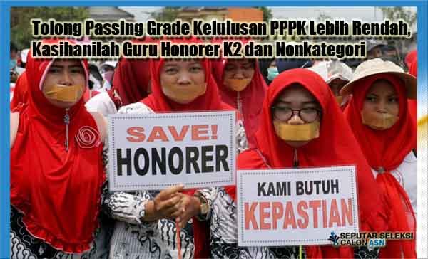 Tolong Passing Grade Kelulusan PPPK Lebih Rendah, Kasihanilah Guru Honorer K2 dan Nonkategori