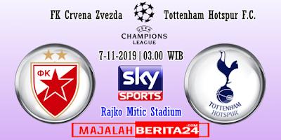 Prediksi Crvena Zvezda vs Tottenham Hotspur — 7 November 2019