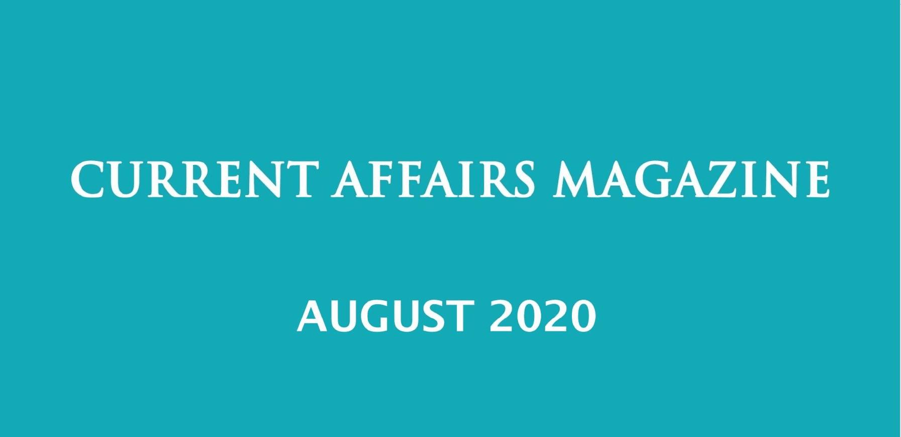 Current Affairs August 2020 iasparliament