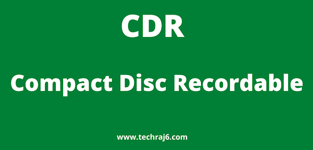 CDR full form,what is the full form of CDR