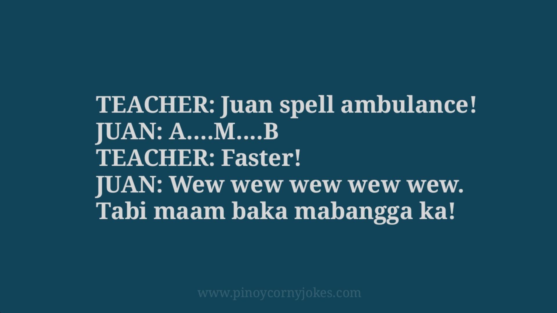 ambulance school filipino jokes 2021