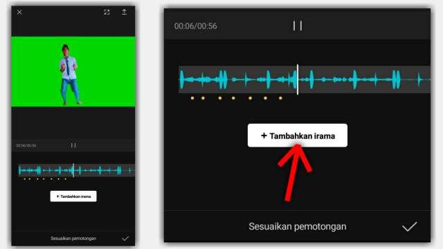 Cara Menandai Beat Lagu atau Musik di Aplikasi CapCut