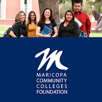 group shot of MCCCDF scholars and MCCCDF logo