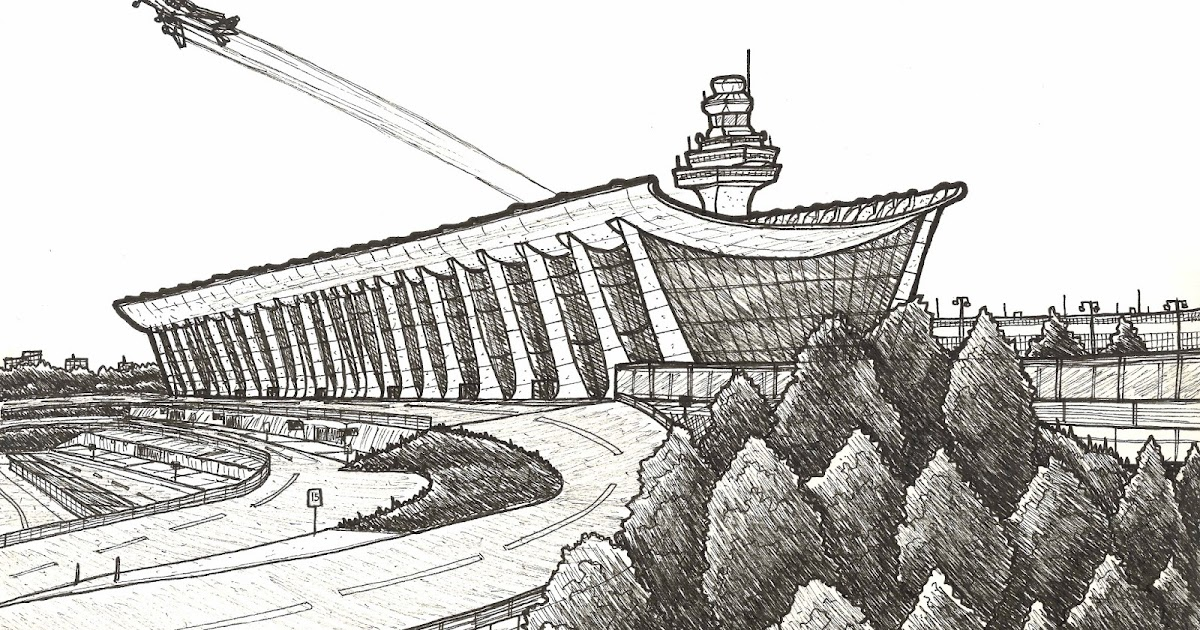 Urban Sketchers Washington DC: DULLES INTERNATIONAL AIRPORT