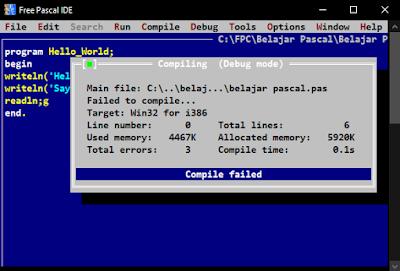Compile failed