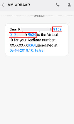 how to generate virtual id for aadhar card