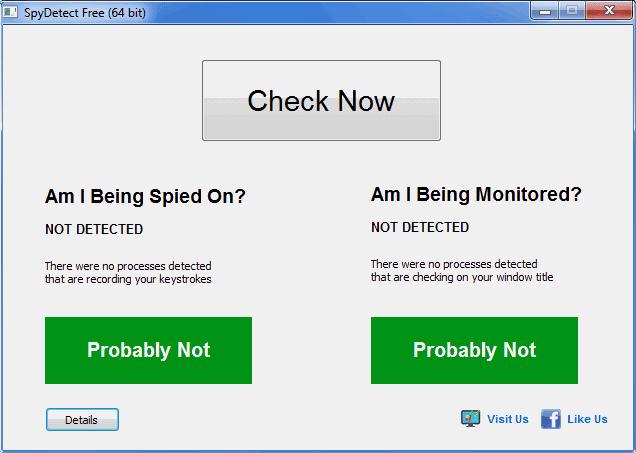 SpyDetectFree per scoprire spyware e keylogger nel PC