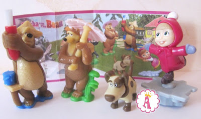 Kinder Surprise Masha and the Bear Toys collection