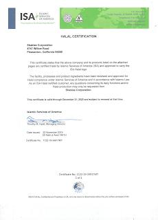 Sijil Halal Shaklee 2020 Certificate Produk Shaklee Halal