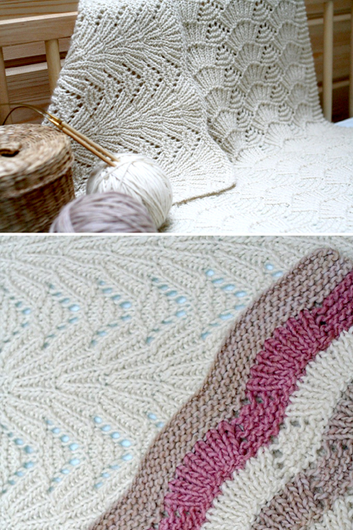 Seashells Blanket - Knitting Pattern