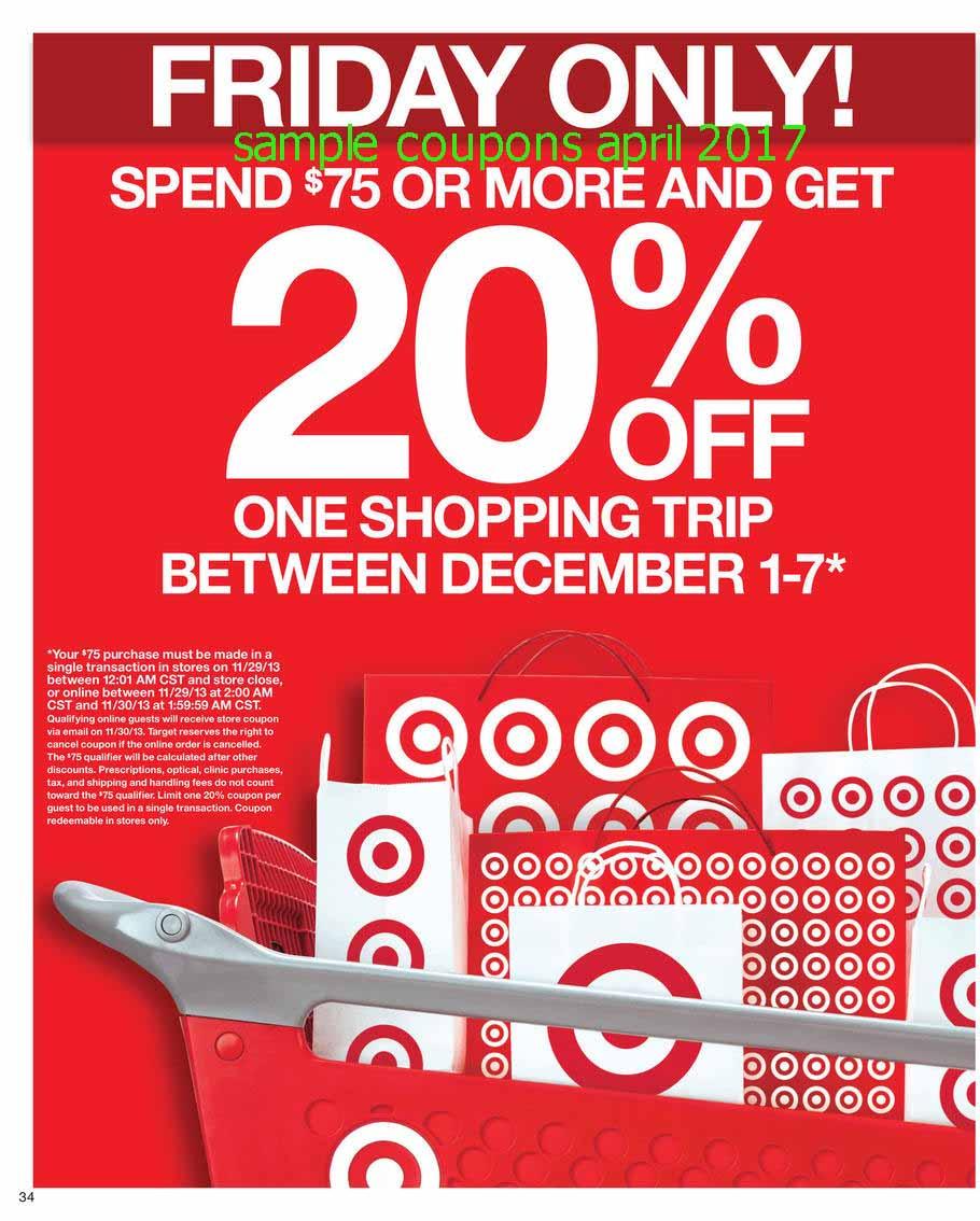 Target coupon code 2018