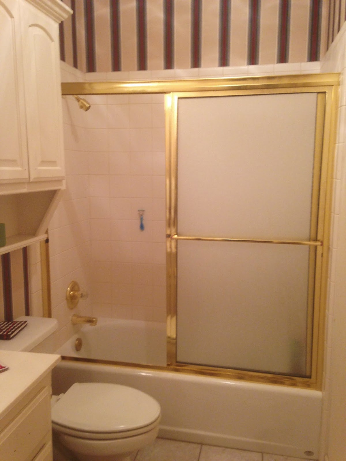 Mcentire House Makeover Removing The Sliding Shower Door