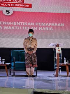 Debat Perdana, Calon Gubernur Jambi No Urut (02) Menyampaikan Visi dan Misi Jambi Berkah