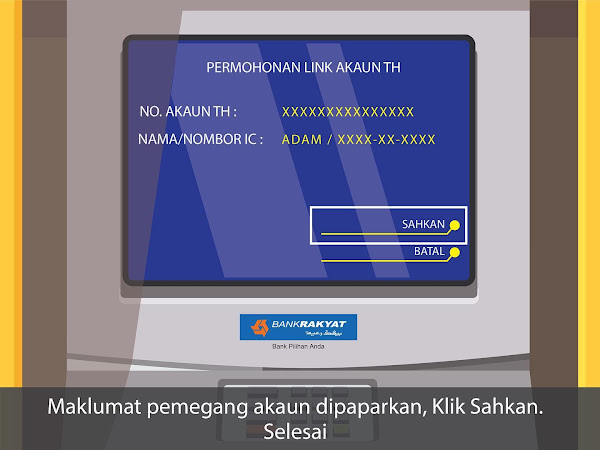 link kad bank Rakyat ke tabung haji anak