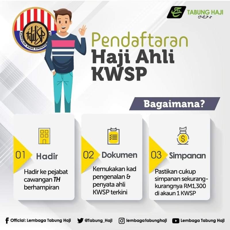 daftar haji menggunakan KWSP