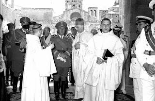 Franco, en el retorno de Jaume I a Poblet (4/6/1952)