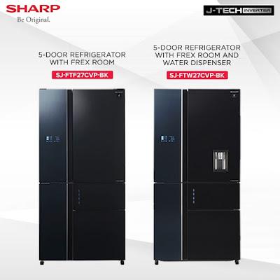 Sharp 5D French door Inverter Refrigerators