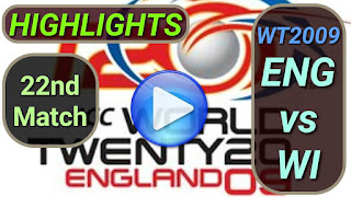 ENG vs WI 22nd Match