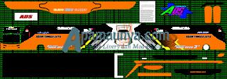 Livery Agam Tugga Jaya Oren Ads JB3+ SHD