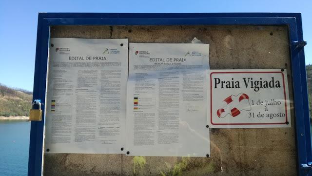 Praia Vigiada - painel de informações