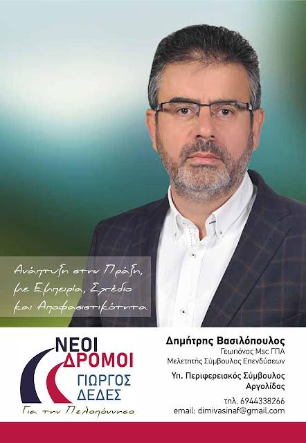 Δημήτρης Βασιλόπουλος: Δεν πρέπει να χαθούν άλλες ευκαιρίες!