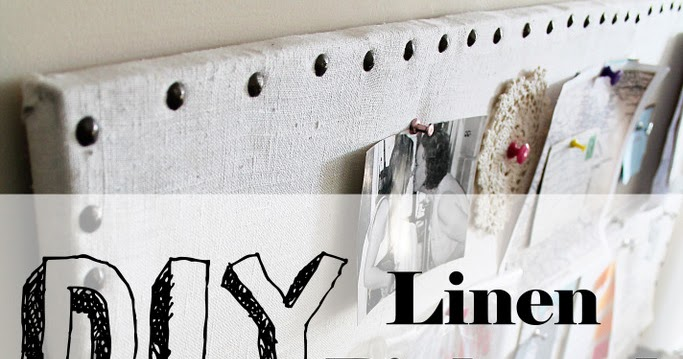Confessions of a New / Old Home Owner: DIY Linen Pinboard