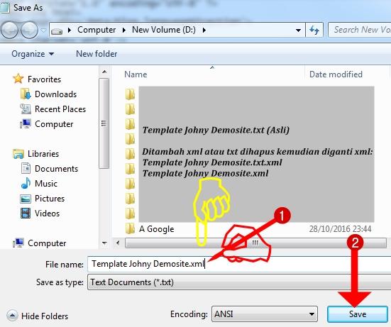 Ganti Nama File txt menjadi xml